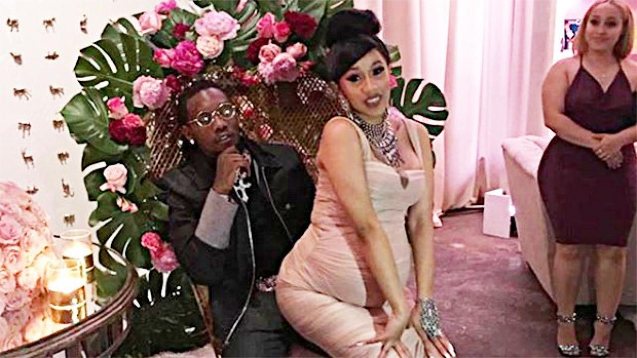 cardi b 39 s 39 fairytale 39 themed baby shower was so extra. Black Bedroom Furniture Sets. Home Design Ideas