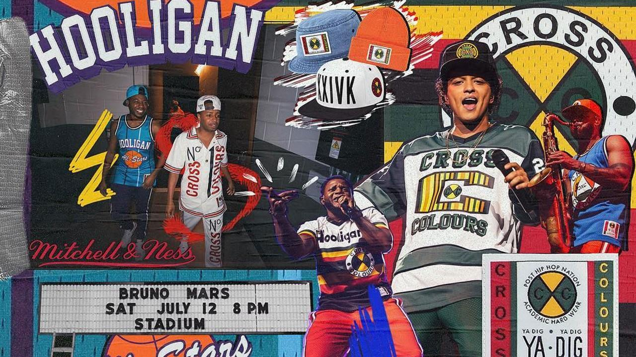 d87115bea4c26 Mitchell and Ness launch dope 90 s style Bruno Mars tour merch