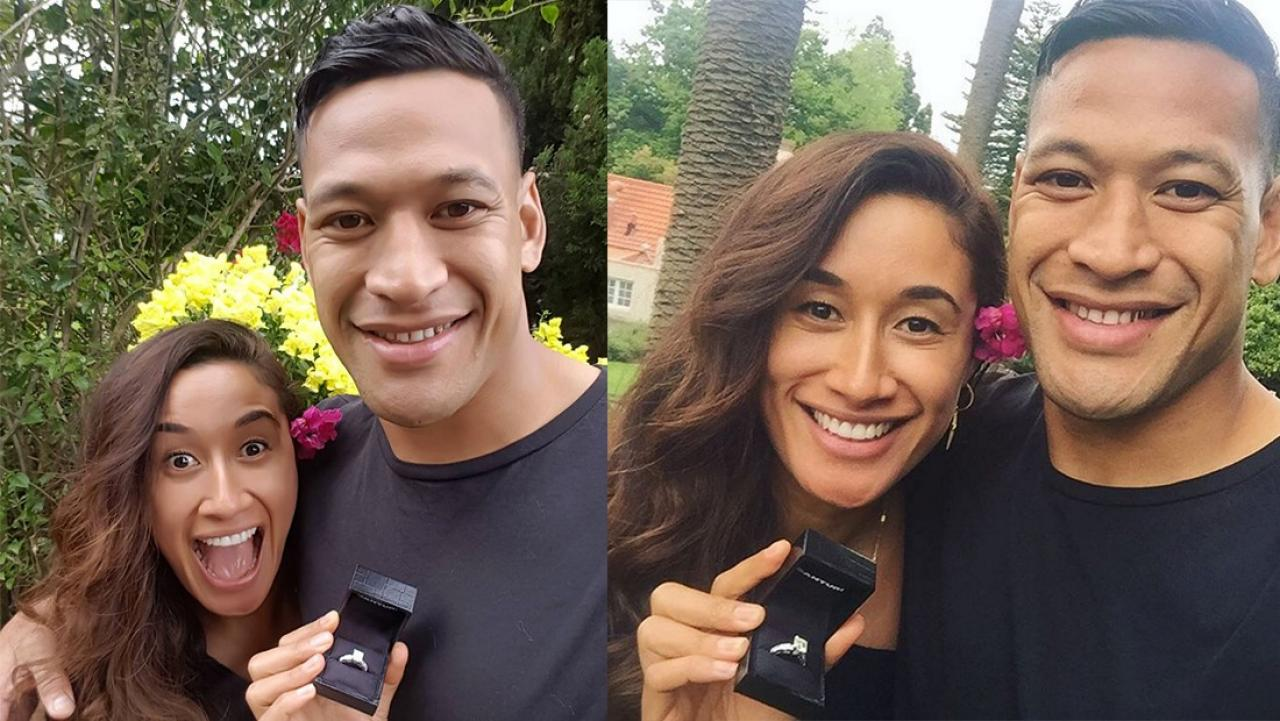 Maria Tutaia & Israel Folau are engaged!