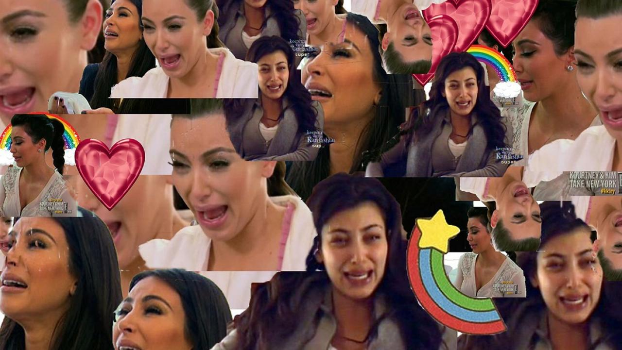 Kim kardashian rips herself out about her ugly crying face - Kim kardashian crying collage ...